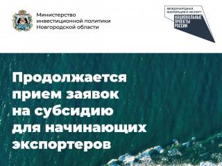 У новгородских экспортеров есть возможность компенсировать часть затрат по первой экспортной поставке