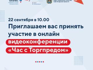 22 сентября в 10.00 приглашаем вас принять участие в онлайн видеоконференции «Час с Торгпредом»