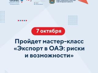 Новгородским экспортерам расскажут об особенностях экспорта в ОАЭ